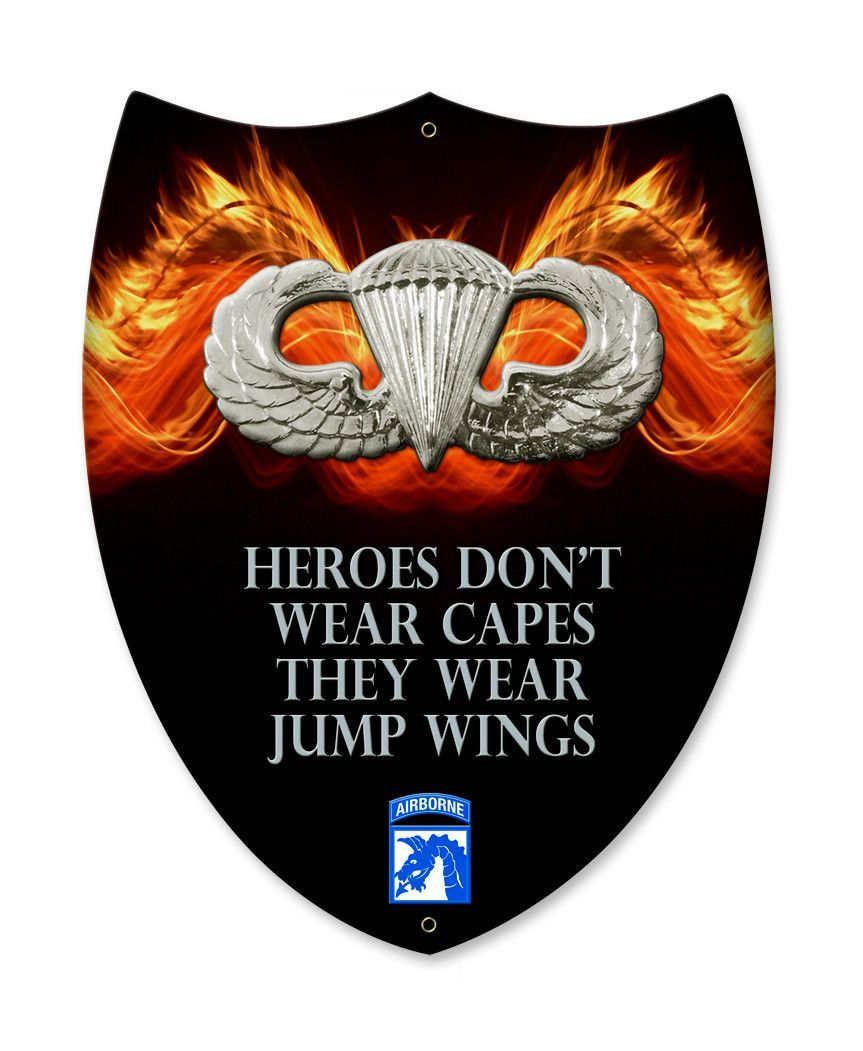 18th Airborne Heroes Wear Jump Wings Shield Hero Military And Army