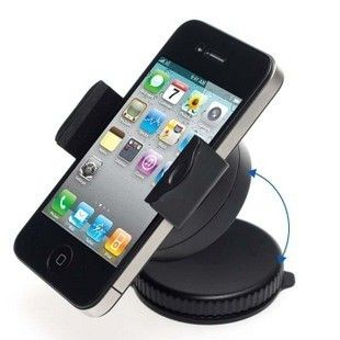 Mini Cell phone holder car 360 degree rotating ,universal phone holder car for iphone /Nokia/HTC free shipping Iphone
