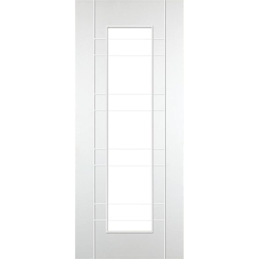 DoorSmart Internal Deluxe White-Primed Salo C7001 FD30 Fire Door With Clear Glass | Leader Doors  sc 1 st  Pinterest & DoorSmart Internal Deluxe White-Primed Salo C7001 FD30 Fire Door ...
