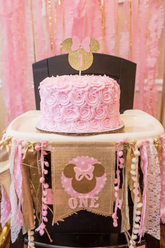 Pink Gold Minnie Mouse Party Designed By Lysi Of Thelysilife