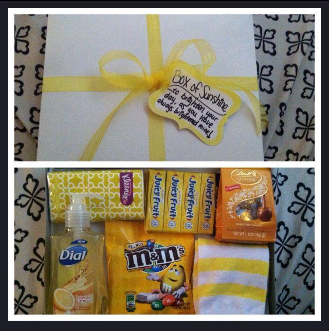 Box Of Sunshine Gift To Cheer Someone Up To Brighten