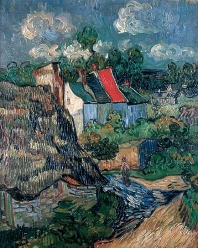 Houses at Auvers was painted in 1890, shortly after Vincent van Gogh arrived in Auvers-sur-Oise