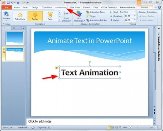 Powerpoint Pause Animation On Click
