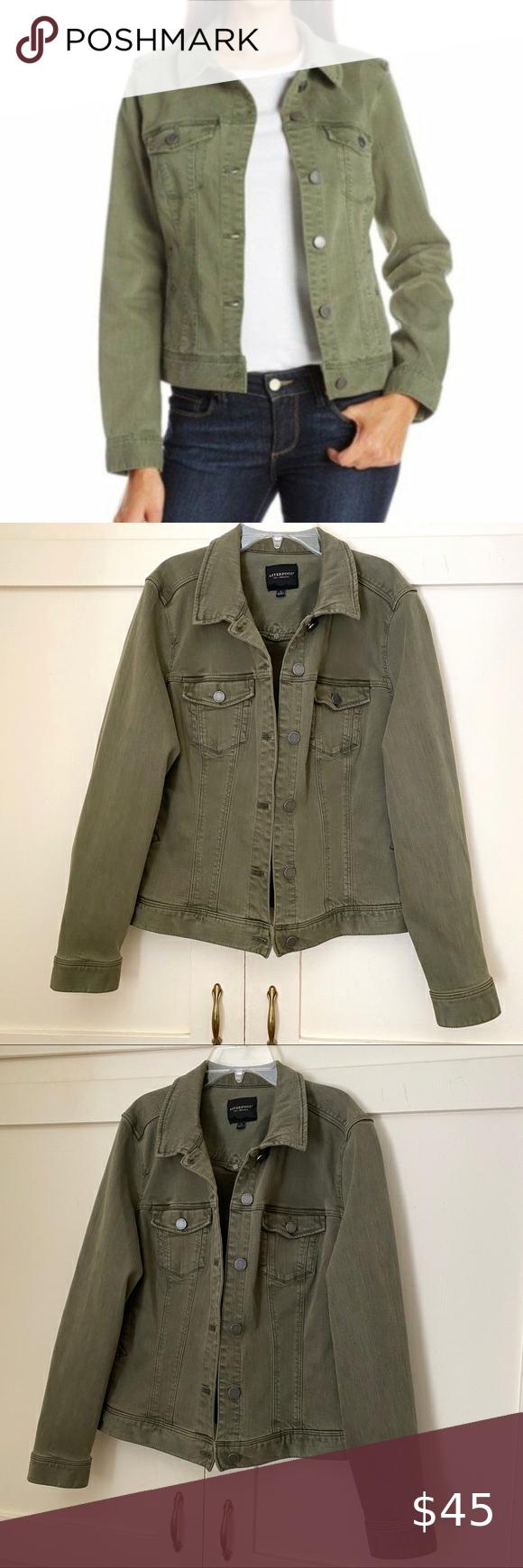 Liverpool Army Green Temma Denim Jacket Large Jackets Denim Jacket Liverpool Jeans [ 1740 x 580 Pixel ]