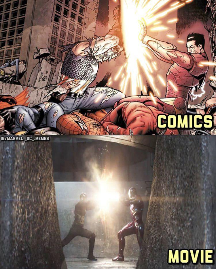 Iron Man vs Captain America Civil War Marvel avengers