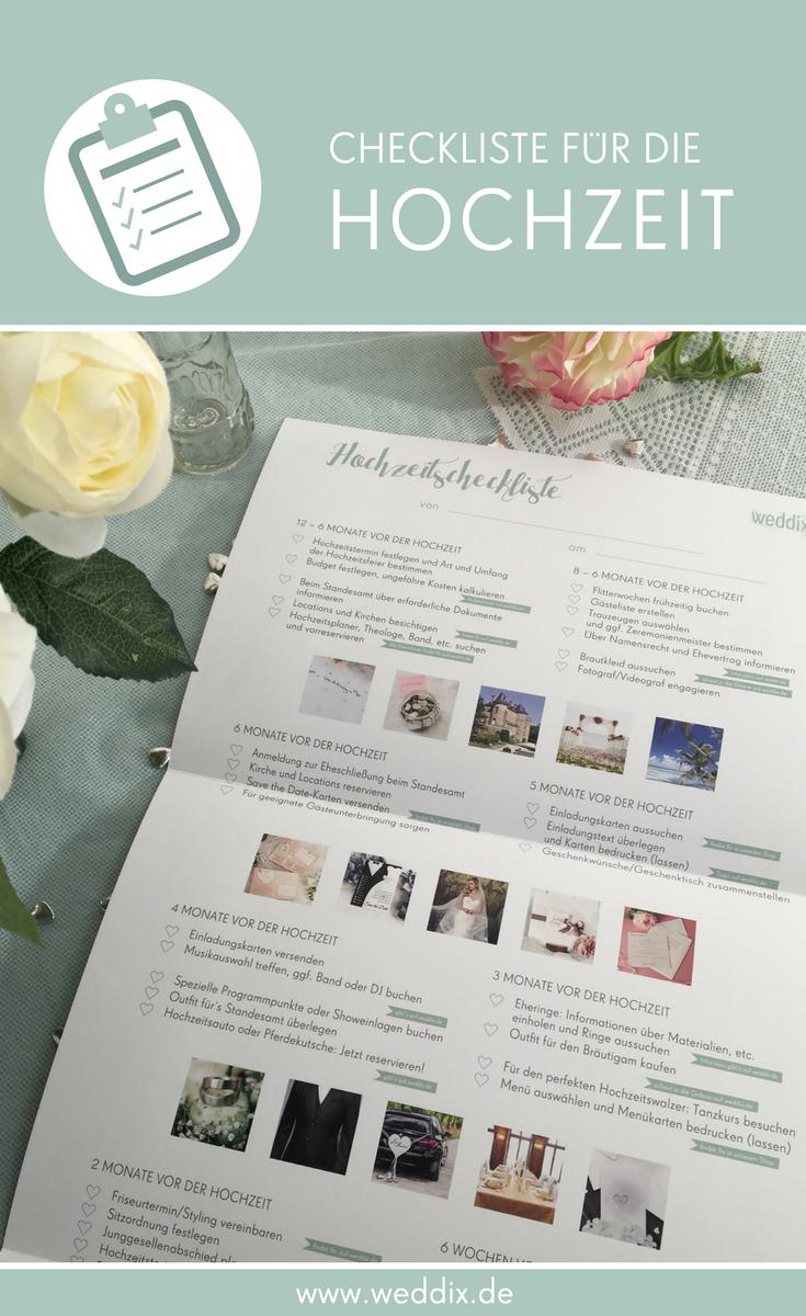 Checkliste Zur Hochzeitsplanung Die Gesamte Checkliste Als
