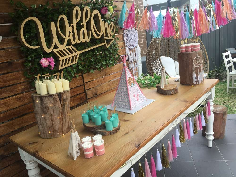 Wild One Birthday Party Ideas Boho Chic Girl Bday
