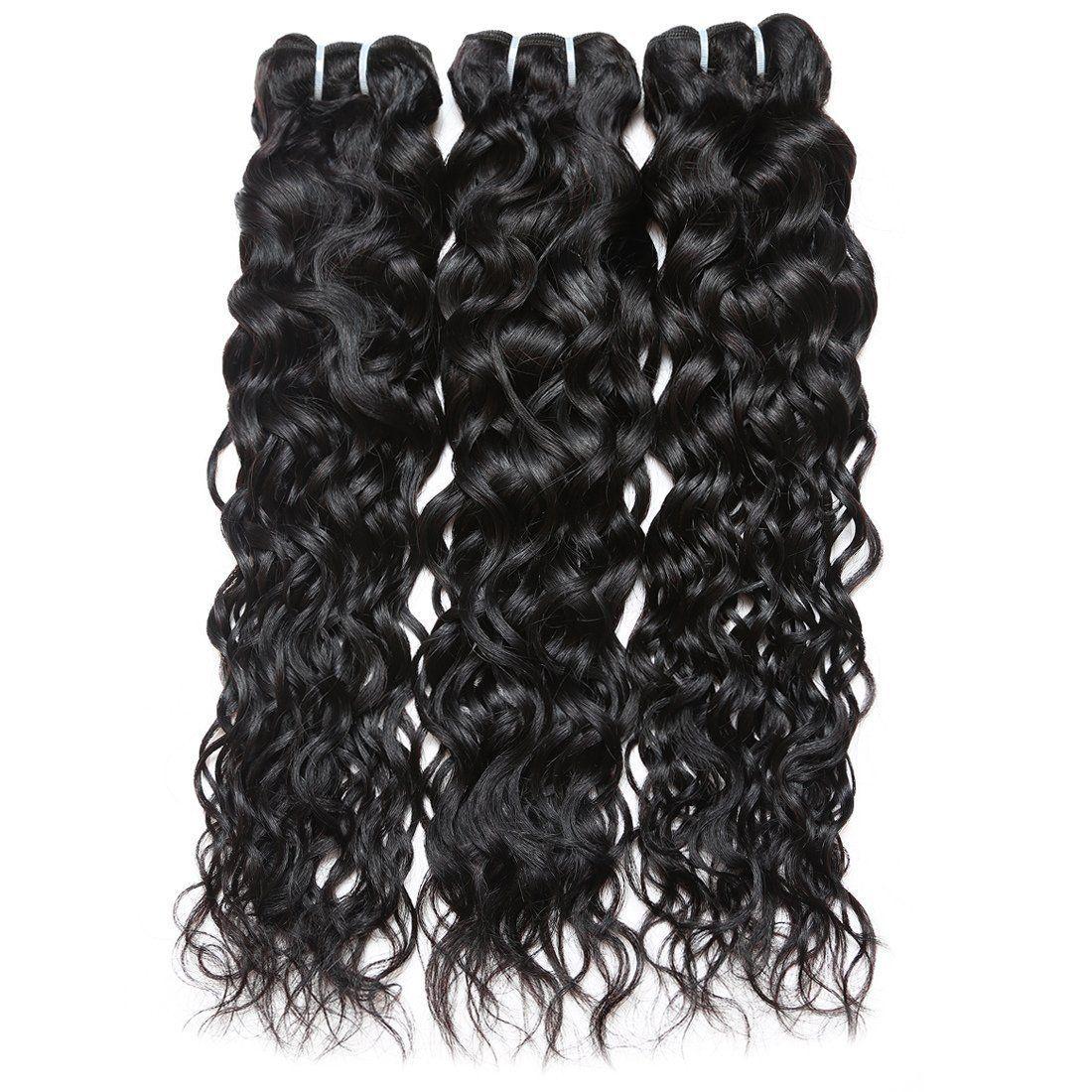 Human Virgin Hair Indian water wave Hair 3 Bundles 100% Unprocessed Human Hair Weave #virginhair