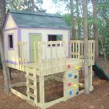 Build A Simple Playhouse Deck Kids Playhouse Plans Play Houses Diy Playhouse