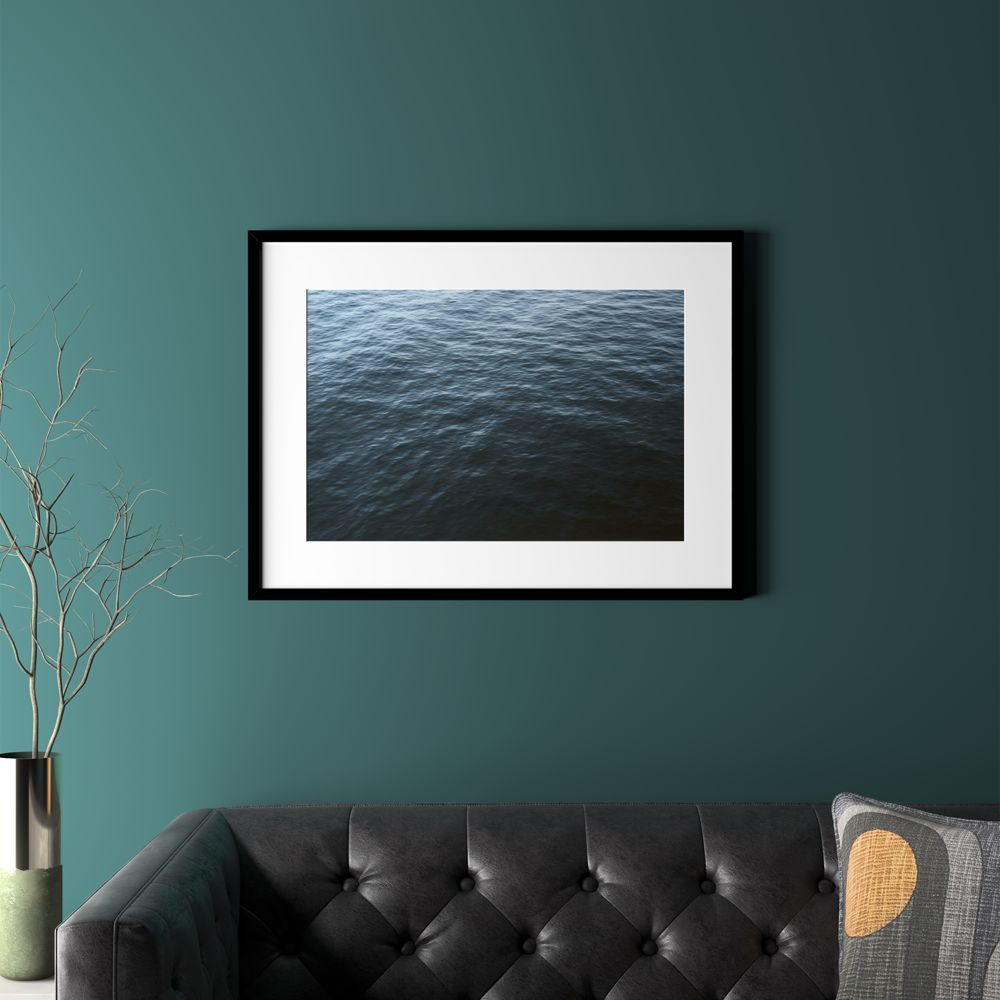 """water with black frame 31.5""""""""x23.5"""""""""""