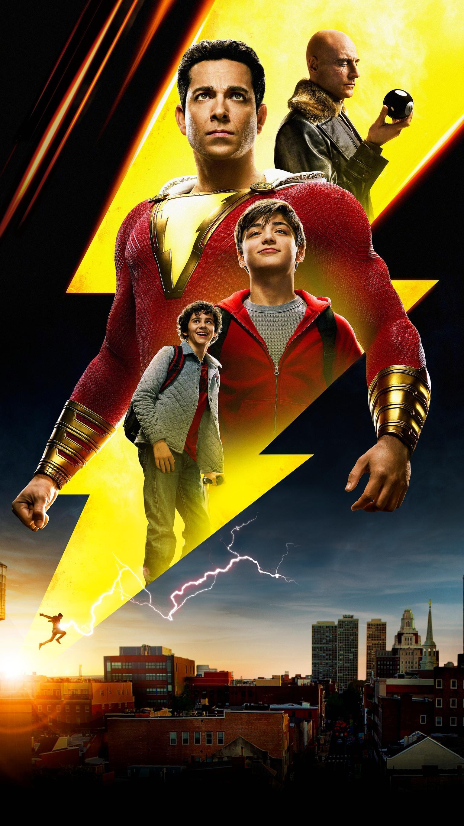 Shazam 2019 Phone Wallpaper Moviemania Shazam Movie Captain Marvel Shazam Shazam