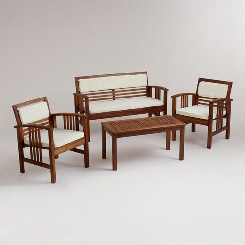 One Of My Favorite Discoveries At Worldmarket Com 4 Piece Belize Occasional F Contemporary Patio Furniture Affordable Outdoor Furniture Outdoor Furniture Sets
