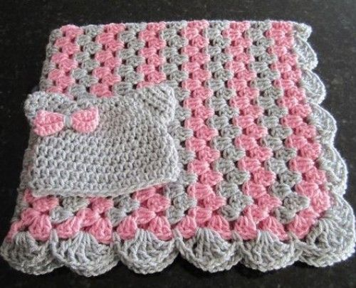 Zigzag Baby Blanket Free Crochet Diagram Beautiful Skills