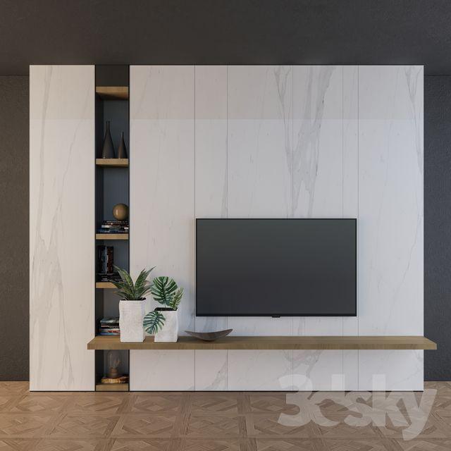 3d Models Tv Wall Tv Stand Living Room Tv Wall Wall Panel Design Tv Wall Design