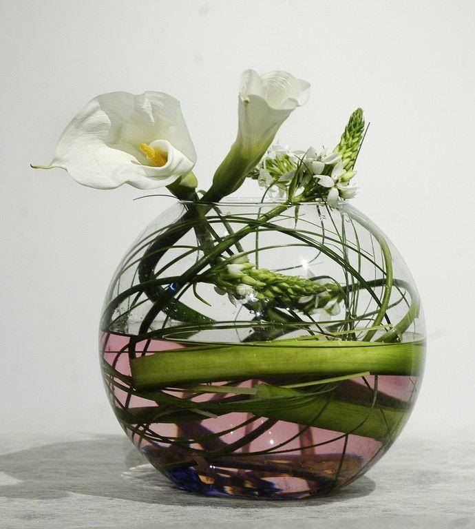 Pecera Y Cala Ideas Flores Sumergidas Arreglos Florales