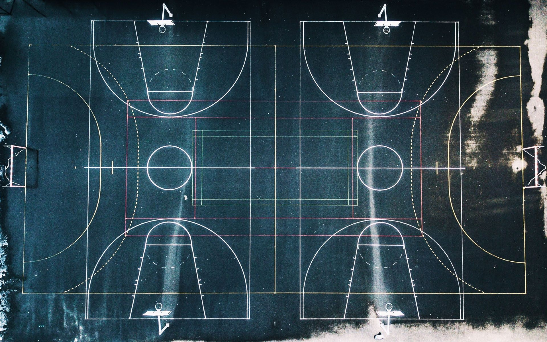 Geometry Of Basketball Court Hd Wallpaper Basketball Ring Basketball Court Basketball Pictures