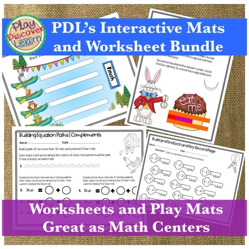 Pdl S Interactive Math Notebook Bundle For Cuisenaire