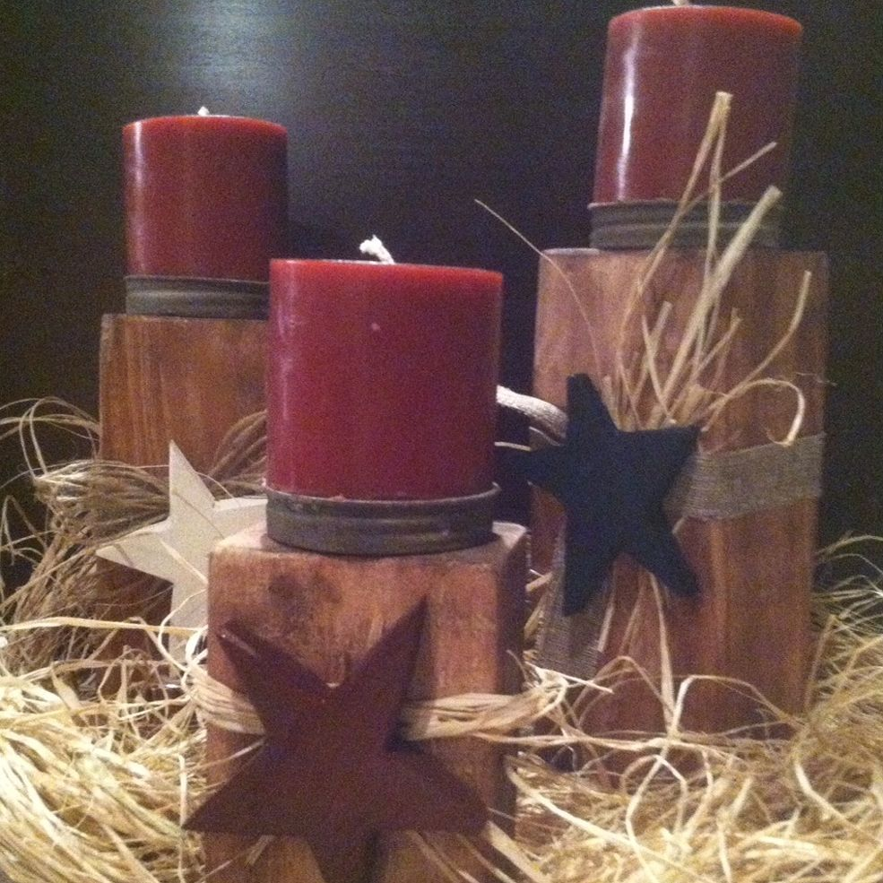 Wooden candle holders craft primitives and woods for Wooden candlesticks for crafts