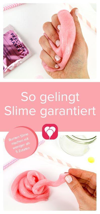Bunten DIY Slime selber machen | Anleitung ohne Kleber | balloonas.com