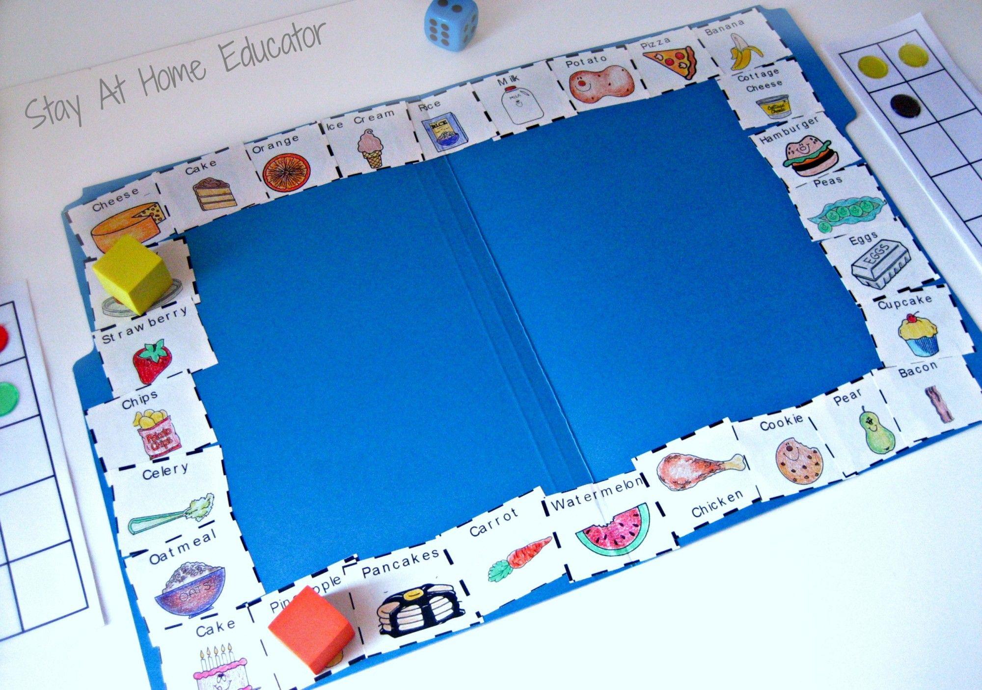 Junk Food Worksheets For Kindergarten
