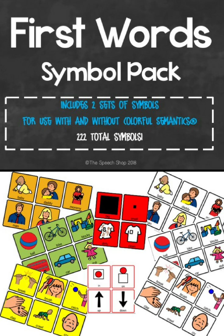 First Words List and Symbol Pack (with and without