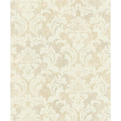 Voyage Linen Damask Wallpaper Damask Wallpaper