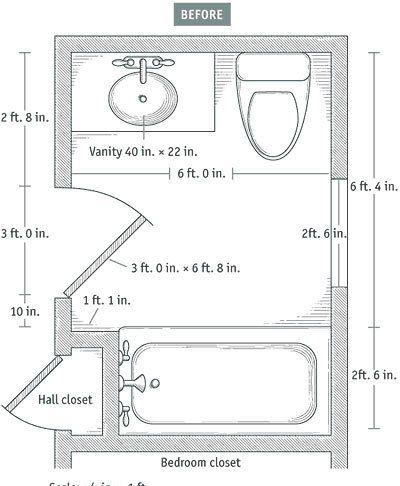 Merveilleux More On Baths Slideshow: 7 Small Bathroom Floorplan Layouts Kitchen U0026  Bathroom Planning U0026 Design