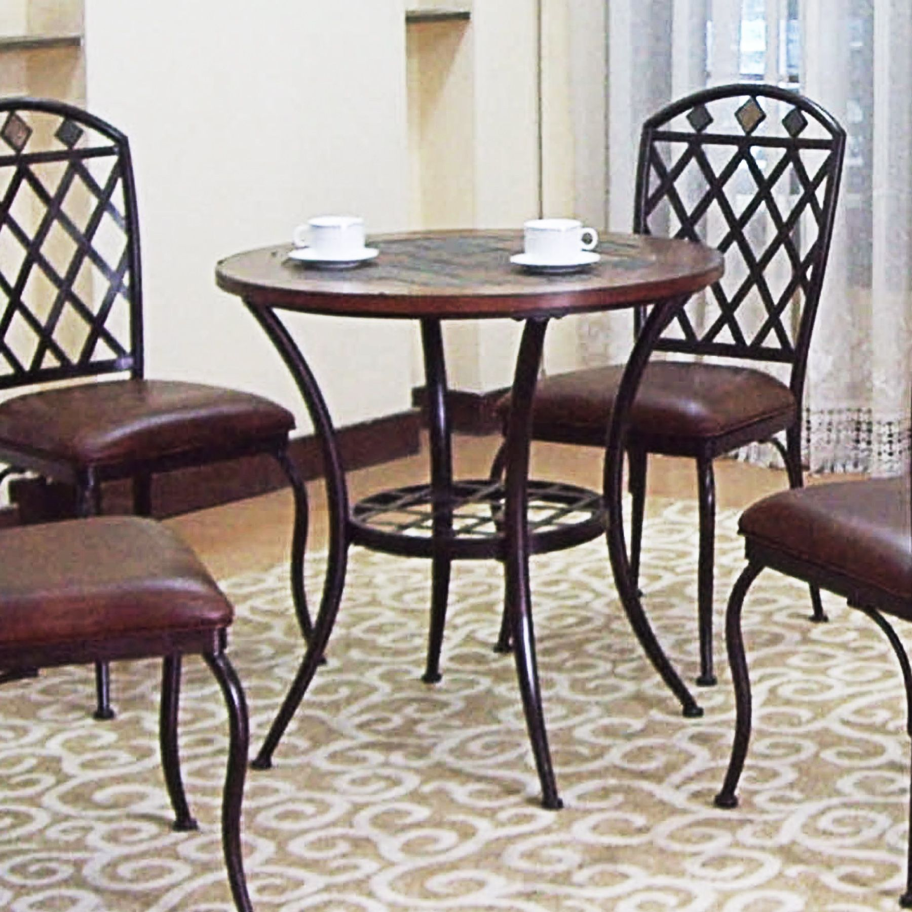 Slate Top Dining Table Bistro Pub Table Kitchen Dining Slate