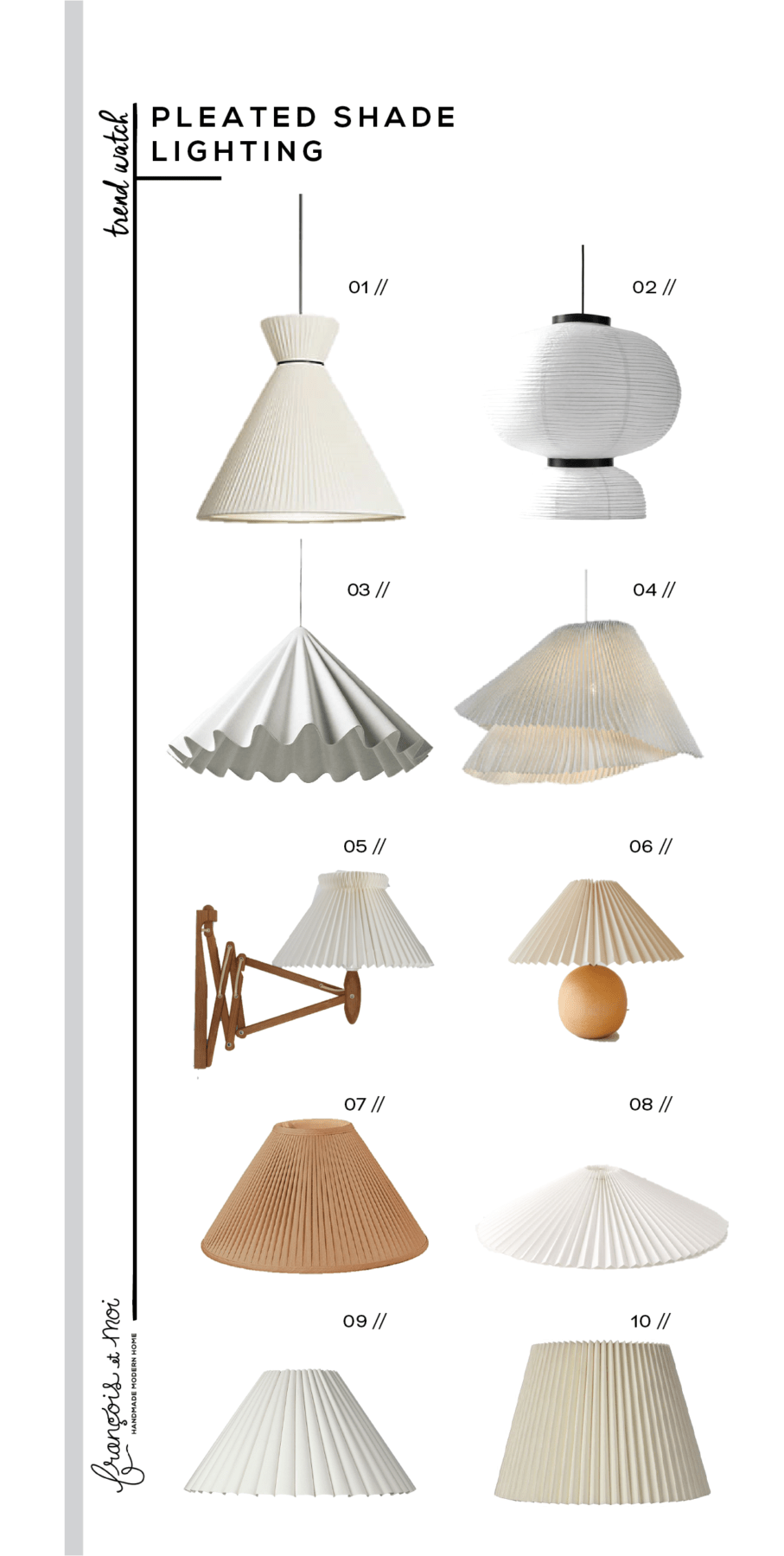 Trend Watch Pleated Lampshades Francois Et Moi In 2020 Pleated Shade Eclectic Lighting Pendant Chandelier
