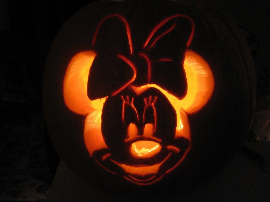 easy carving pumpkin ideas minnie mouse pumpkin carving pattern rh pinterest com