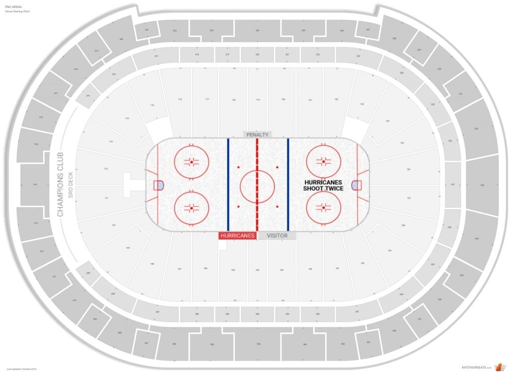 Pnc Arena Seating Chart With Rows And Seat Numbers Seating Charts Chart Carolina Hurricanes