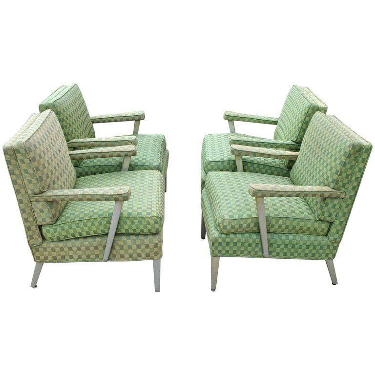 firstclass modern armchair. Set of Four SS United States First Class Cabin Upholstered Arm Chairs