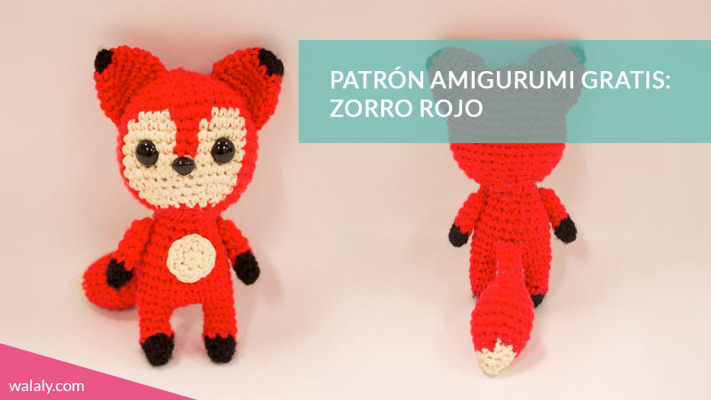 patrón zorro amigurumi gratis walaly | #1 Amigurumi | Pinterest ...