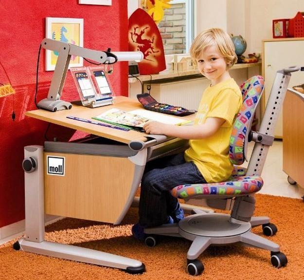student desks improving functionality of modern kids room