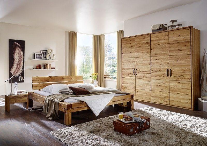 Schlafzimmer Balkeneiche massiv JANGALI natur geölt ZÜRICH Jetzt - schlafzimmer komplett günstig
