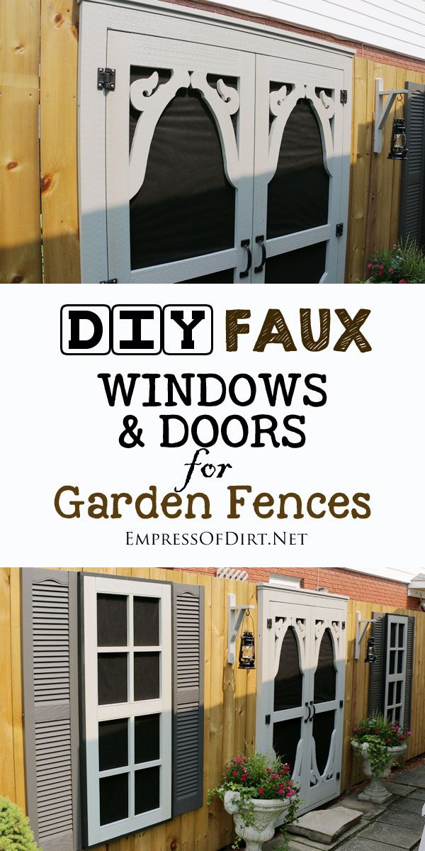 DIY Faux Windows and Door for Fences Faux window, Fences and Window