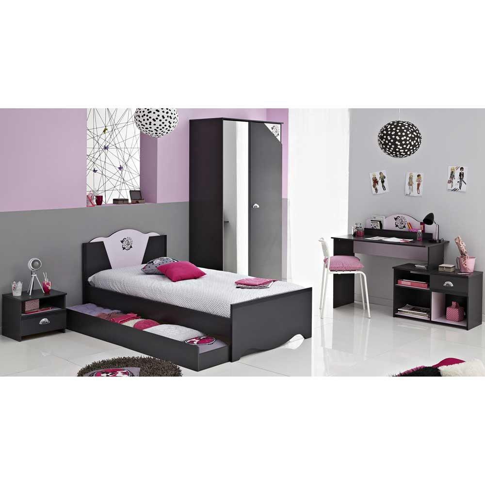 Jugendzimmer komplett mit schreibtisch 5 teilig auf for Jugendzimmer set ikea