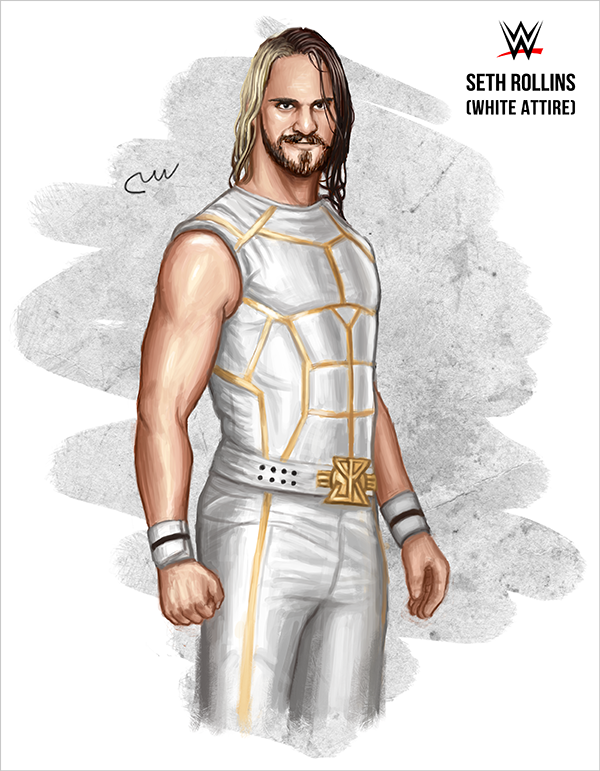 Wwe Seth Rollins White Attire By Baguettepang On Deviantart Wwe Seth Rollins Seth Rollins Seth Freakin Rollins
