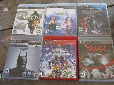 Lot 6 used PS3 Final Fantasy Yaibi Batman Battlefield Kingdom of Hearts https://t.co/qnxiuehRen https://t.co/jjWs0hDzMu