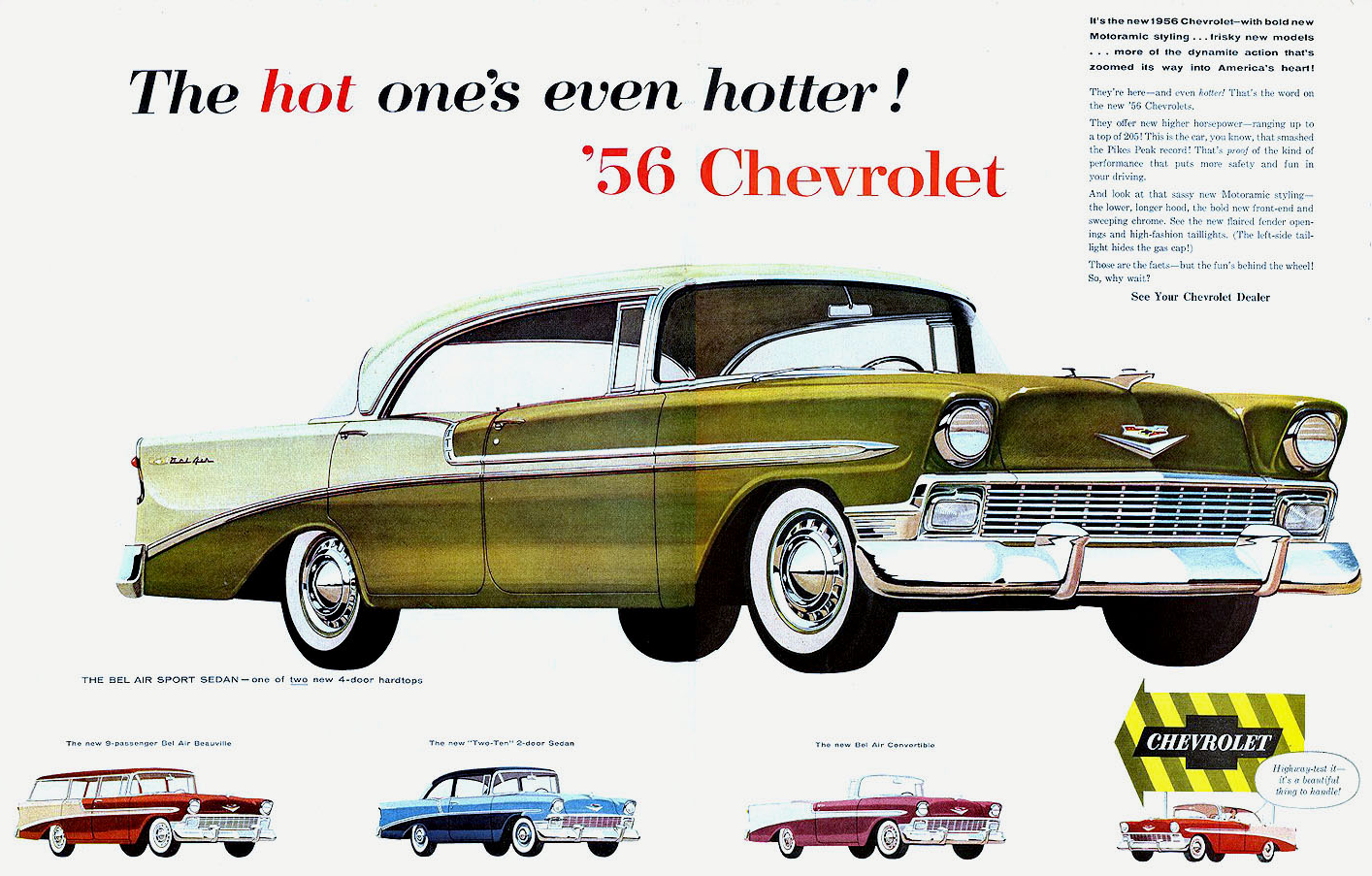 Model Year Madness 10 Classic Ads From 1956 Chevrolet Car Ads