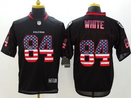 ... NFL Jersey Nike Atlanta Falcons 84 Roddy White 2014 USA Flag Fashion  Black Elite Jersey ... e9f1f0b78