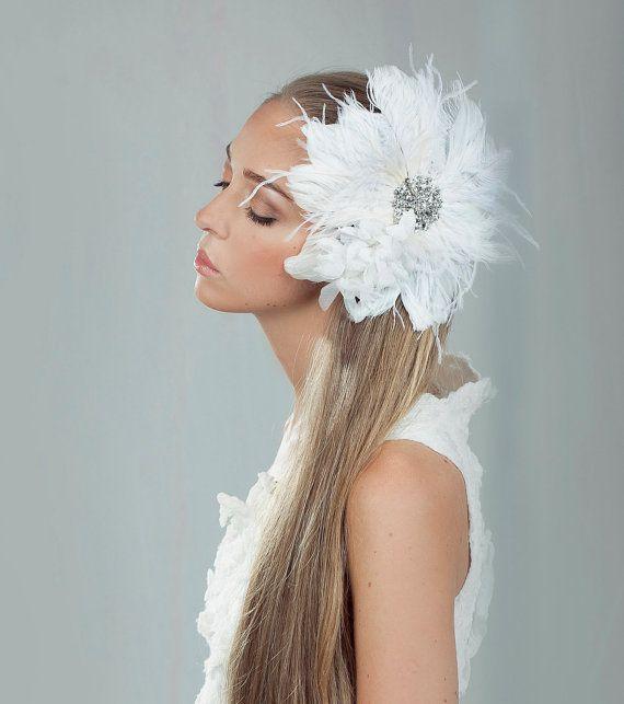 Bridal  fascinator  Style162  Made to Order by LavenderByJurgita, $121.00