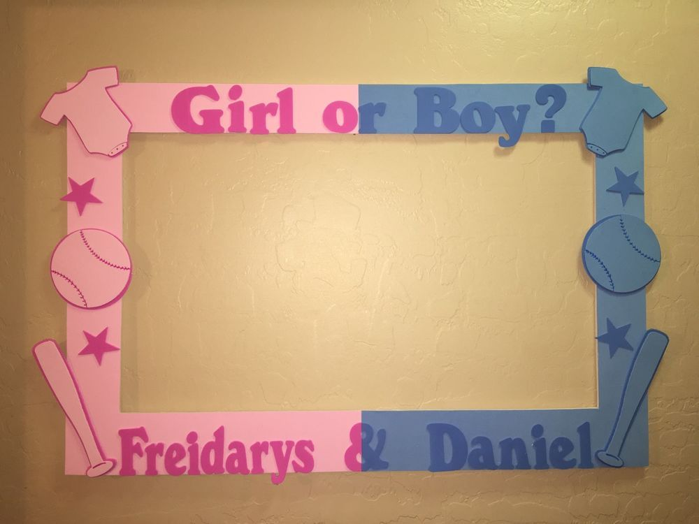 Gender Reveal Party Photo Booth Frame To Take Pictures Baby Shower