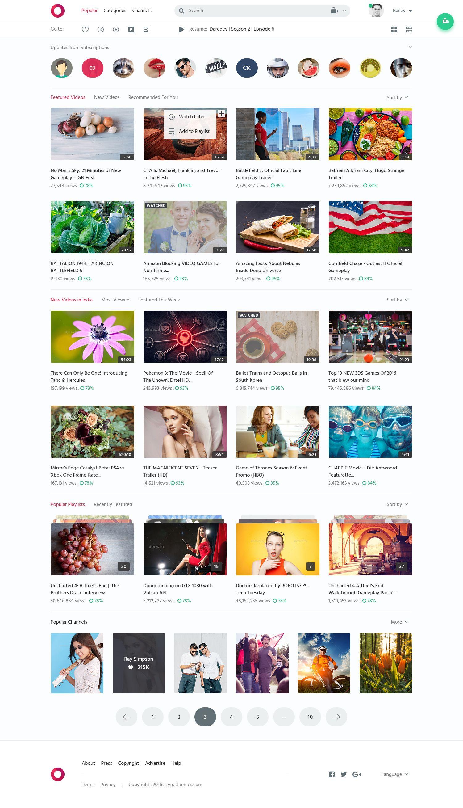Circle Video Sharing Website PSD Template Pinterest Psd - Photo sharing website template
