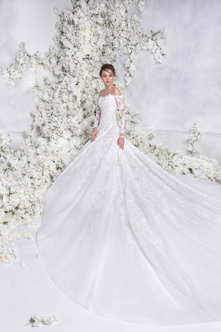 Rami Al Ali 2018 Wedding Dresses Bridal Long Sleeves Off The