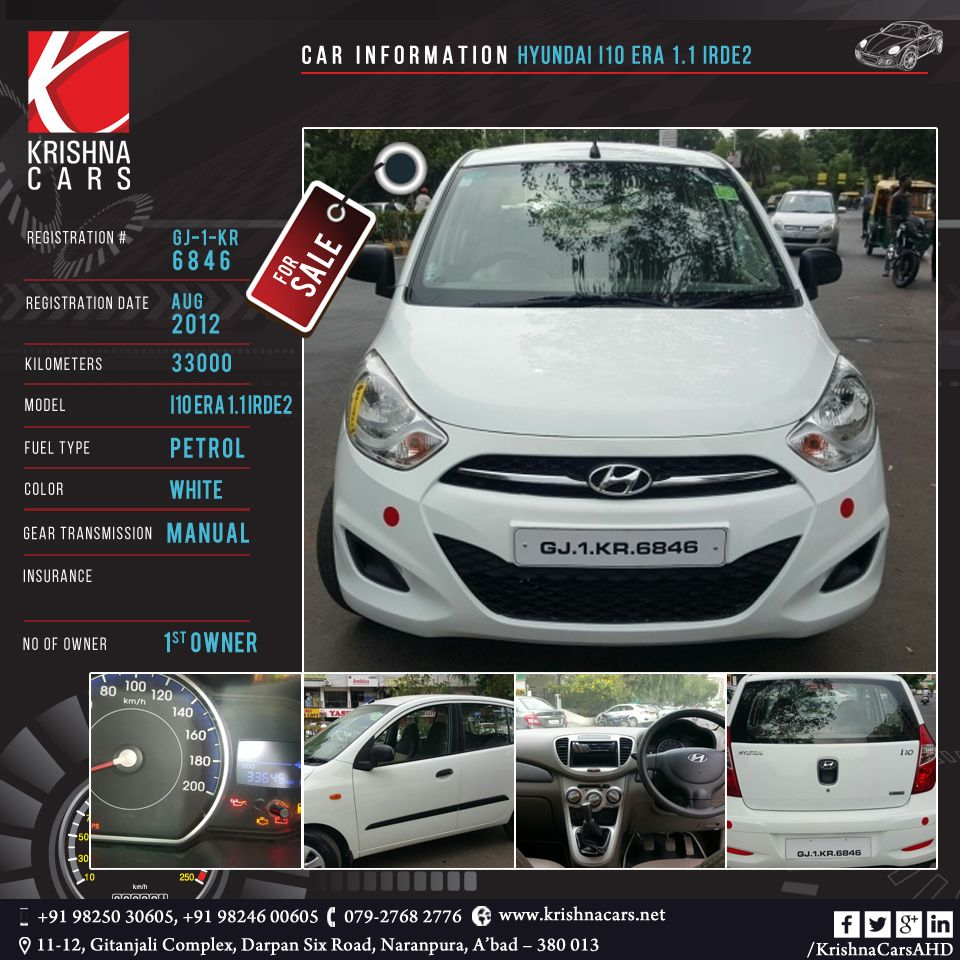 Car Information Hyundai I10 Era 1 1 Irde2 Registration Gj 1 Kr