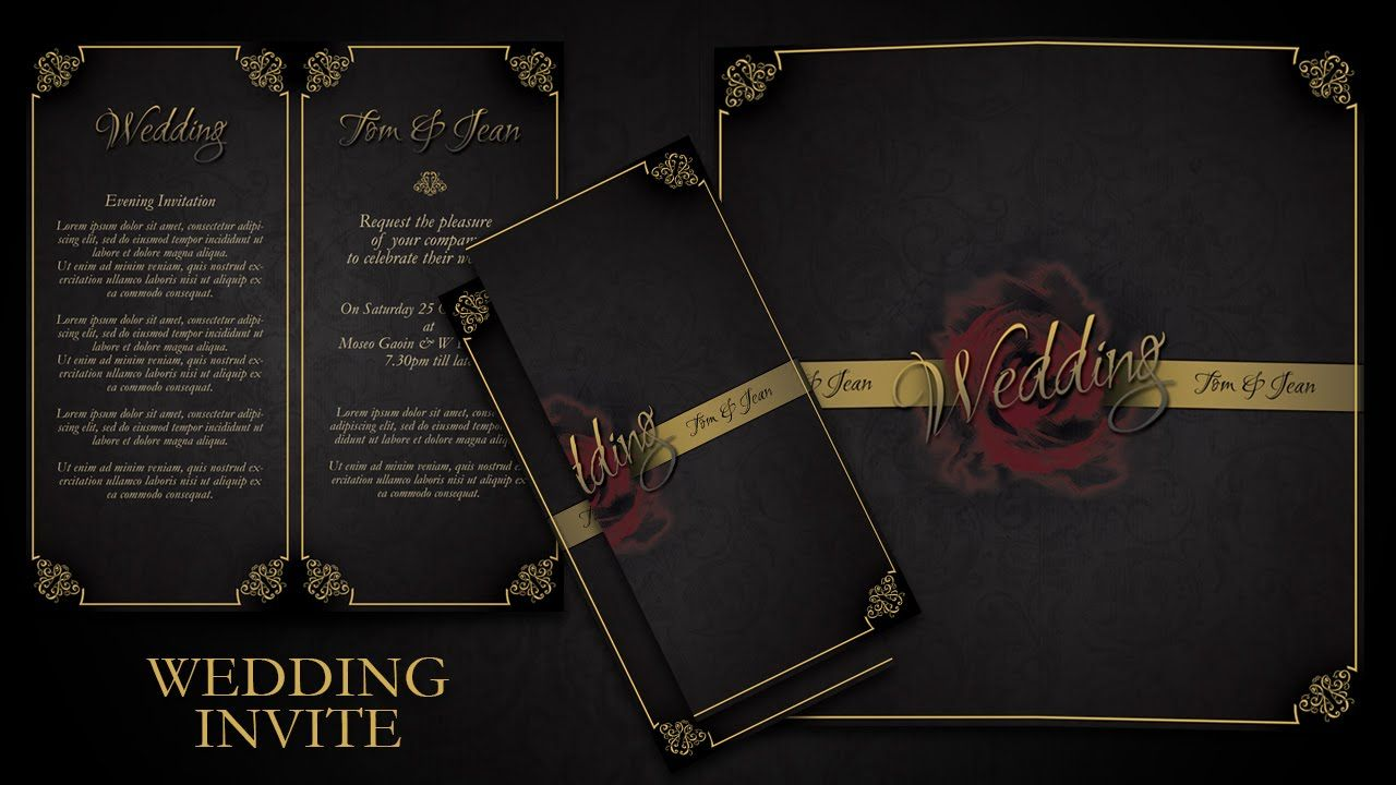 How To Make Simple And Elegant Wedding Invitations In Photoshop ...