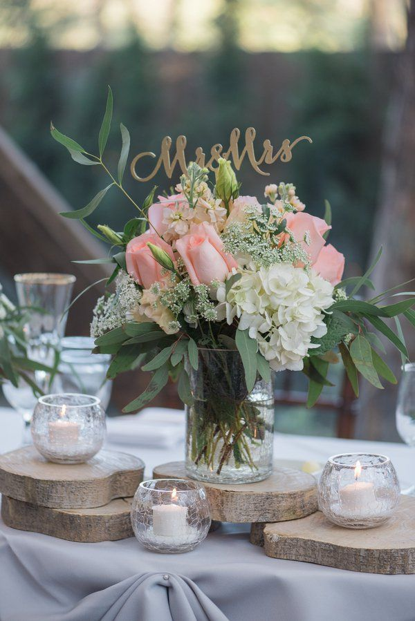 Calamigos Ranch Romantic Wedding Rustic Wedding Centerpieces