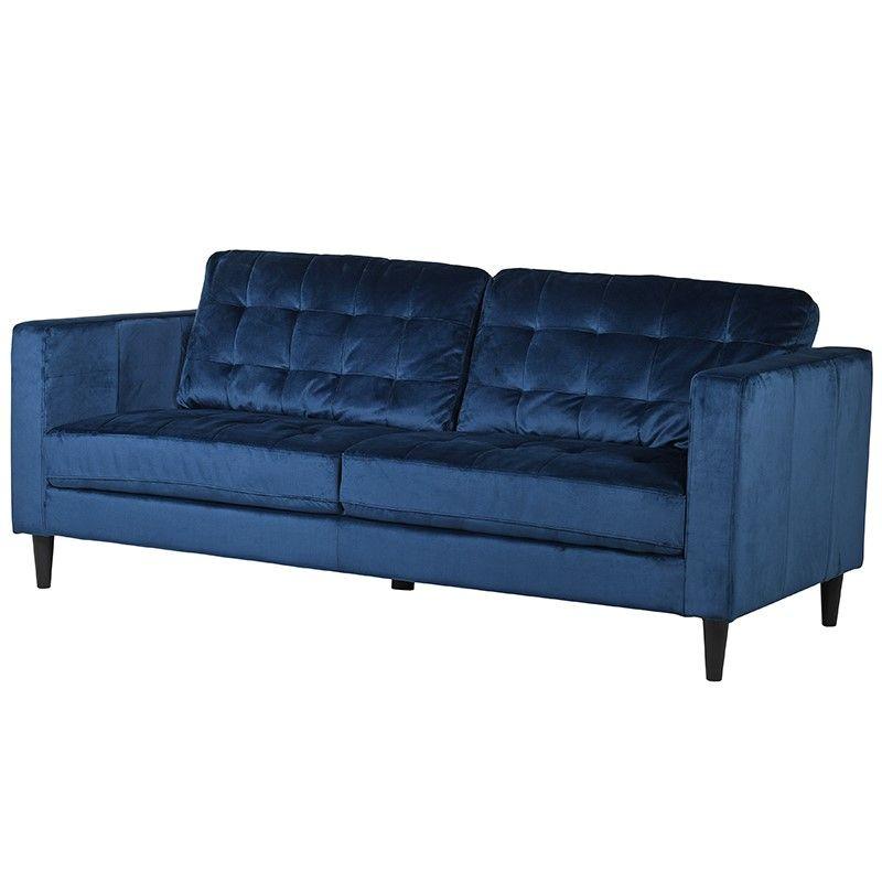 Indigo Velvet Sofa Velvet Sofa Stylish Sofa Blue Velvet Sofa