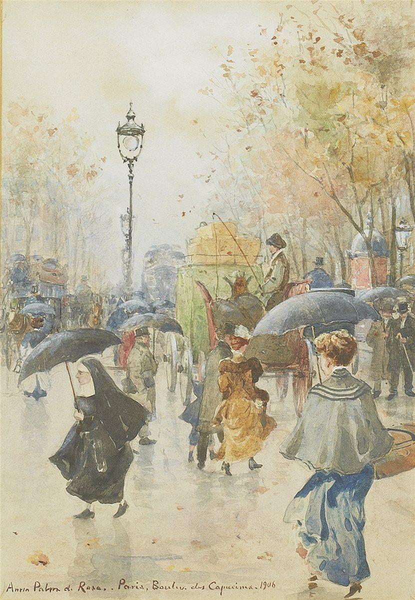 Boulevard des Capucine, Paris, 1906 by Anna Sofia Palm de Rosa (Swedish, 1859–1924)